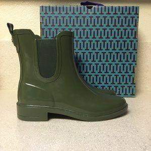 7cd5ed26d2a3 Tory Burch Shoes - Tory Burch Stormy Rain Bootie Green Size 7